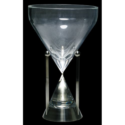 "Eric Hilton (Scottish, b.1937) for Steuben ""Hourglass"" Sculpture"