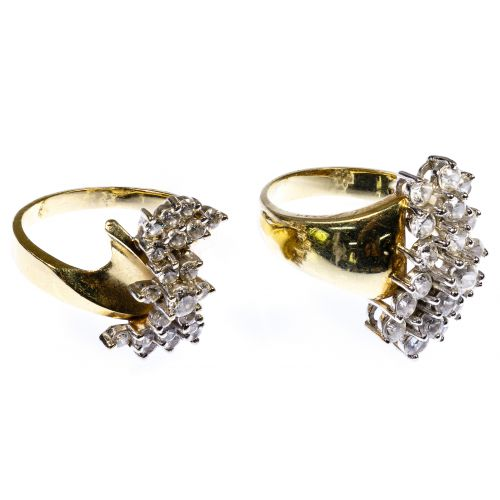 14k Gold and Cubic Zirconia Rings