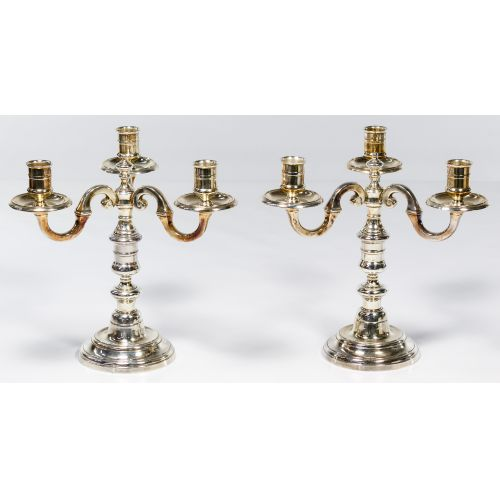Emile Puiforcat Silverplated Candle Holders