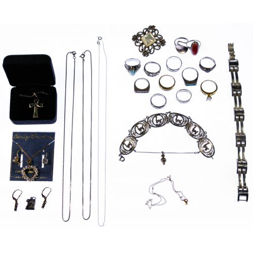 10k Gold and Sterling Silver Jewelry Assortment
