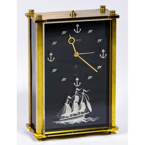 "Le Coultre ""Ship"" Musical Clock"
