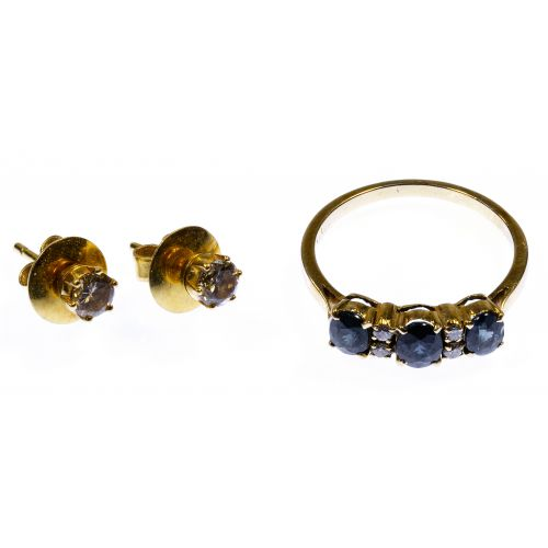 18k Gold, Sapphire and Diamond Jewelry Assortment