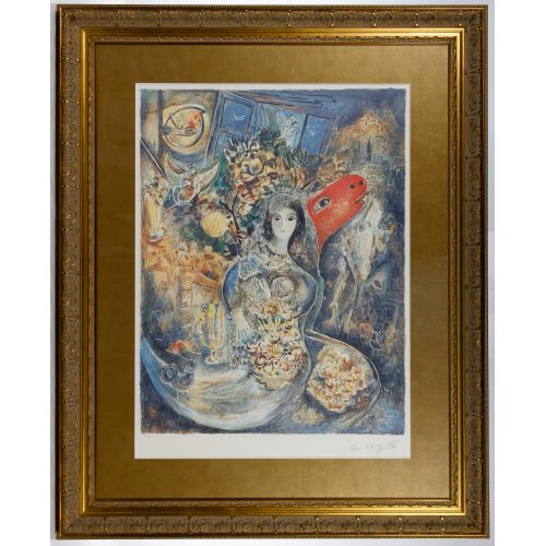 "Marc Chagall (Russian / French, 1887-1985) ""Bella"" Print"