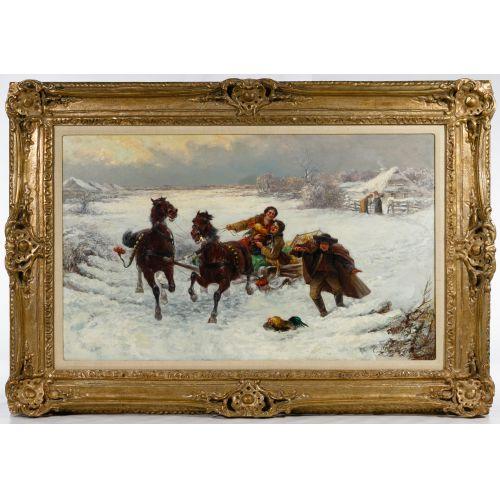 C Stojanow (Russian, 19th Century) Oil on Canvas