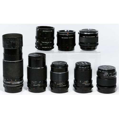 Pentax Camera Lens and Accessory Assortment