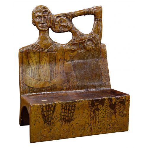 Figural-form Fiberglass Bench