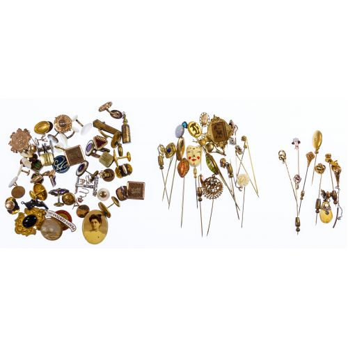 Lapel Pin and Cuff Link Assortment