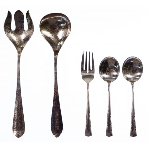 Le Bolt Sterling Silver Salad Fork and Spoon