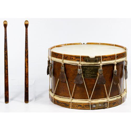 "Civil War ""Henry Eisele"" Drum and Sticks"