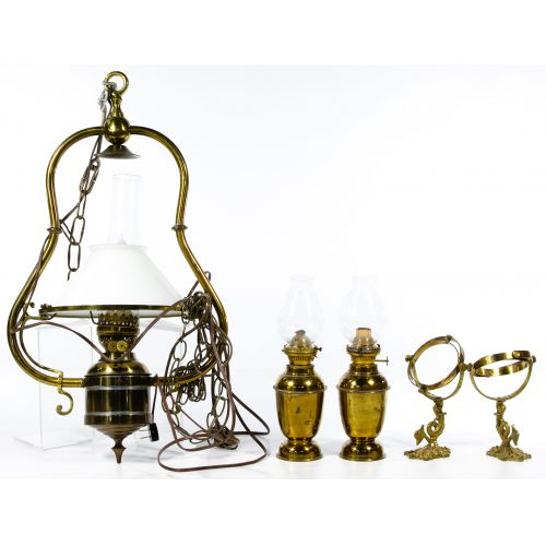 Metal Wall Mount and Hanging Oil Lamp Assortment
