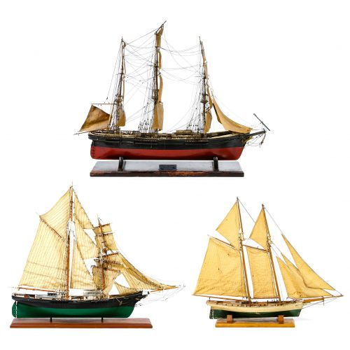 Wooden Model Sailing Ship Assortment