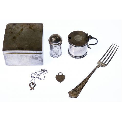 Sterling Silver Hollowware, Flatware and Jewelry Assortment