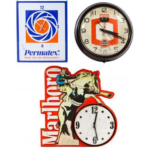 Plastic Advertising Clock Assortment