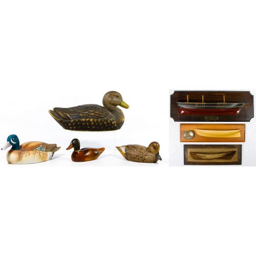 Duck Decoy and Half-Hull Wall Plaque Assortment