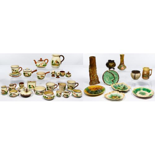 Torquay Motto Ware and Weller Pottery Assortment