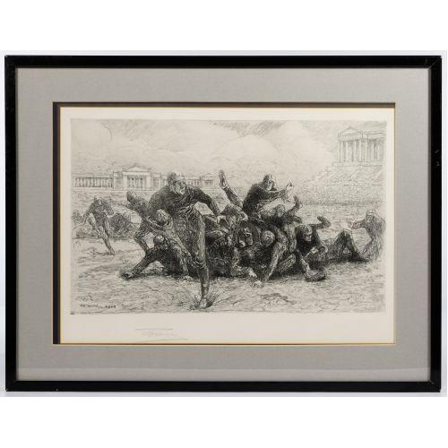 Henri Farre (American / French, 1871-1934) Etching