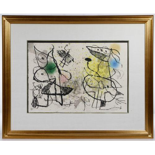 "Joan Miro (Spanish, 1893-1983) ""Le Courtesan Grotesque"" Aquatint"