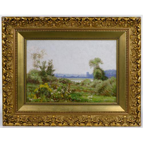 Emil Ahlberg (American / Swedish, 1865-1903) Oil on Canvas