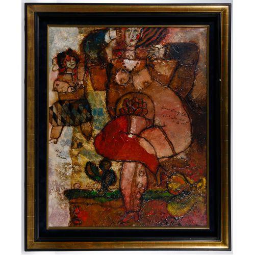 Theo Tobiasse (Israeli, 1927-2012) Oil on Canvas