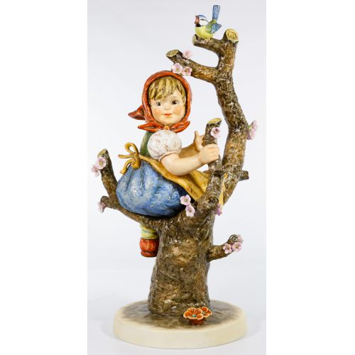 "Hummel #141 / X ""Apple Tree Girl"" Jumbo Figurine"