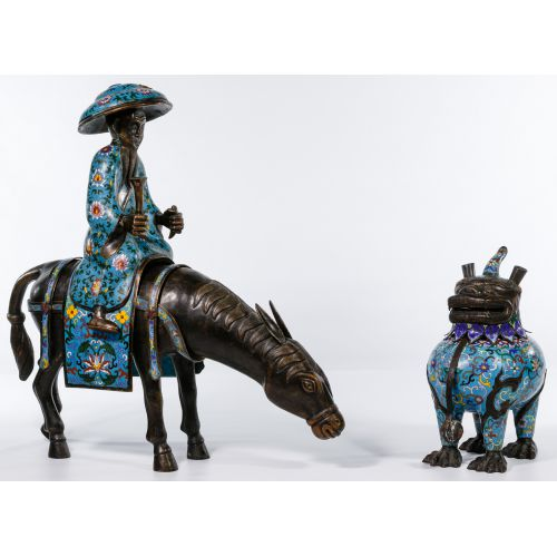 Chinese Cloisonne Figurines