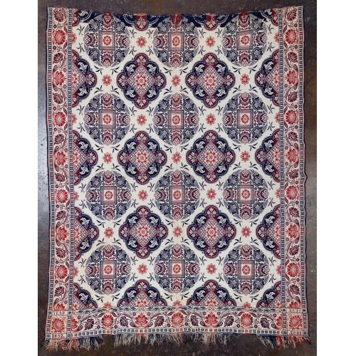 1852 Coverlet and Islamic Shawl