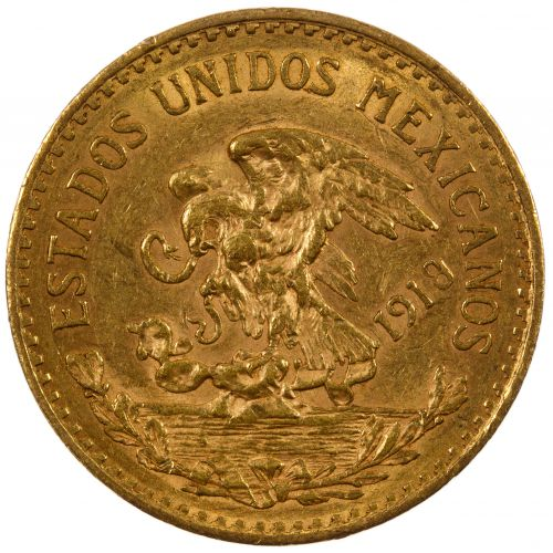 Mexico: 1918 20 Pesos Gold
