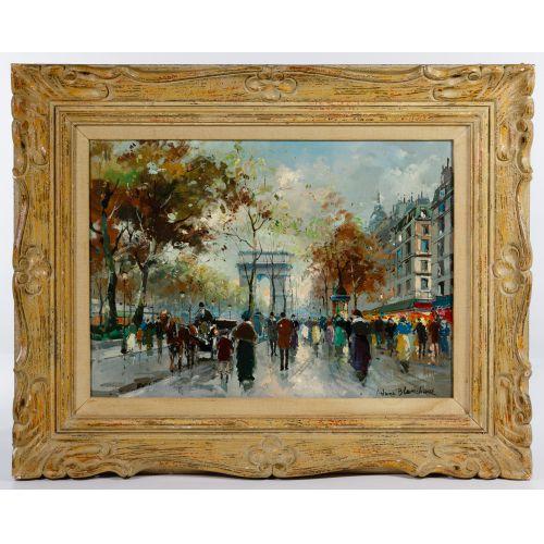 "Antoine Blanchard (French, 1910-1988) ""Arc de Triomphe"" Oil on Canvas"
