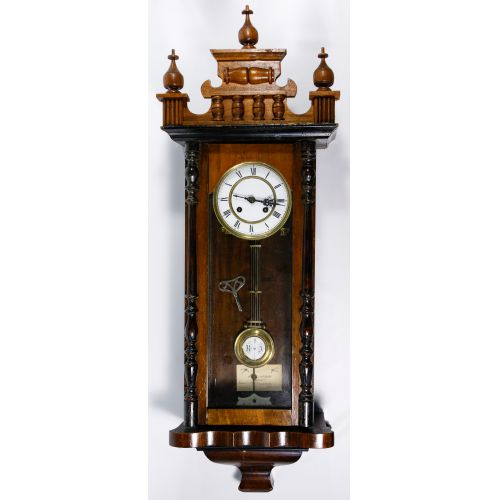 Walnut Cased Wall Clock