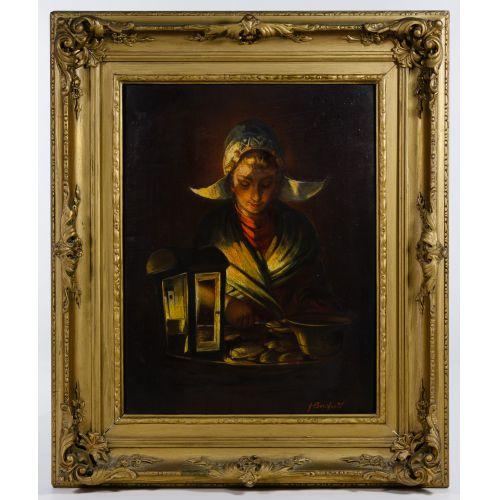 Unknown Artist (Dutch, 19th Century) Oil on Board