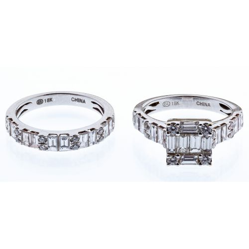 18k White Gold and Cubic Zirconia Rings