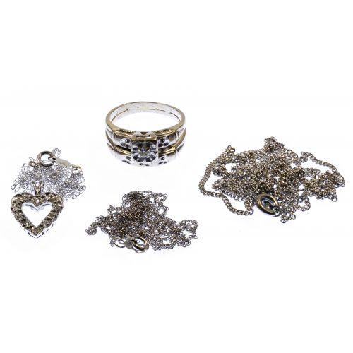 14k White Gold and Diamond Jewelry Assortment