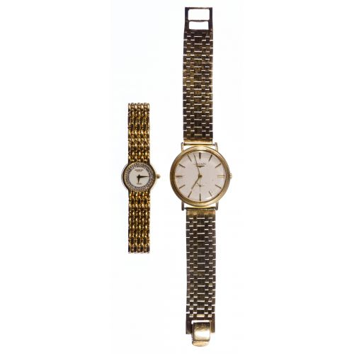 Longines 14k Gold Case and Band Wrist Watch