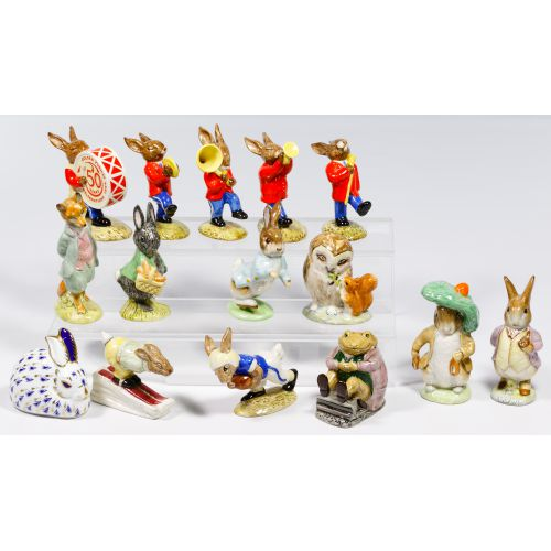Royal Doulton and Royal Crown Derby Bunny Assortment