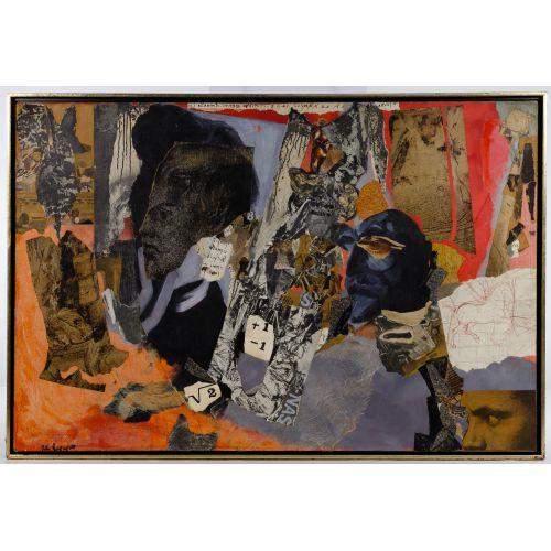 Rita Rapaport (American, 1918-2003) Mixed Media on Canvas