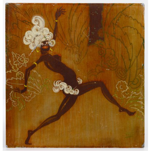 "Stark Davis (American, 1885-1950) ""Hot Cha Girl"" Copper Etching"