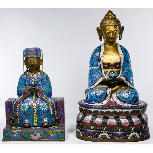 Chinese Cloisonne Figures