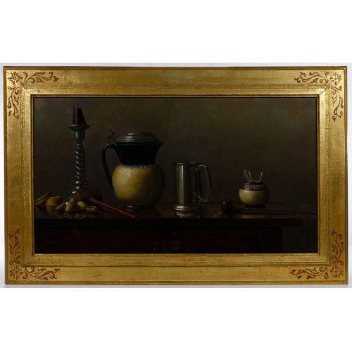 "William O Ewing III (American, 20th Century) ""Tavern Table"" Oil on Canvas"