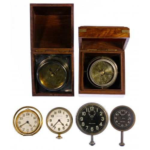 Automobile Clock, Ship Clock and Compass Assortment