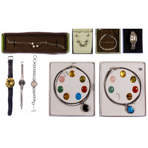 Sterling Silver Jewelry and Watch Assortment