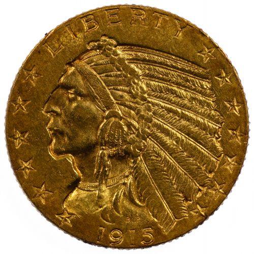 1915 $5 Gold Unc.