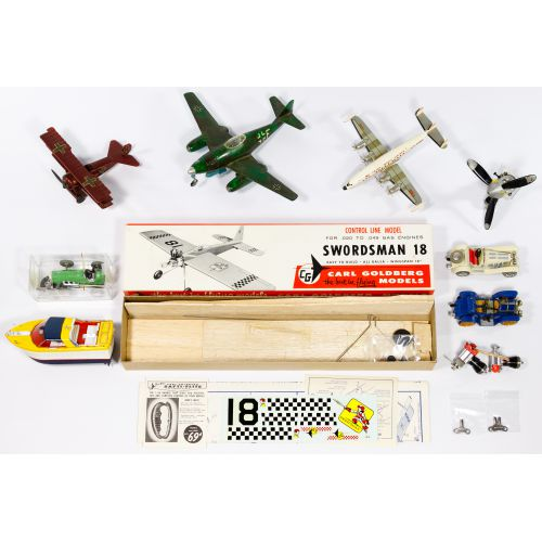 Schuco Wind-up Car and Model Airplane Assortment