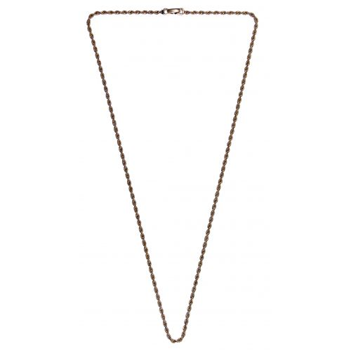 14k Gold Twisted Rope Necklace