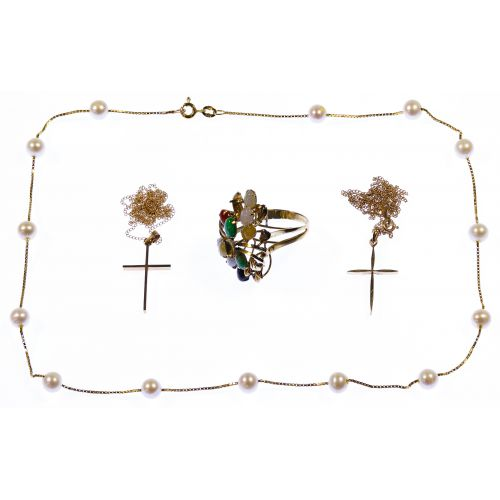 14k Gold and Gemstone Jewelry Assortment