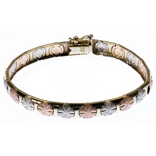 14k Multi-Color Gold Bracelet