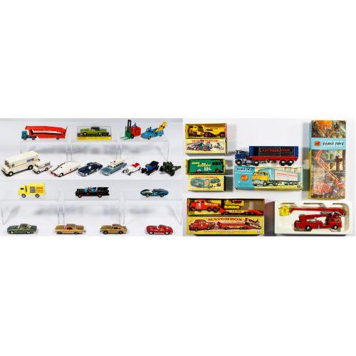 Corgi and Dinkey Toy Car and Truck Assortment