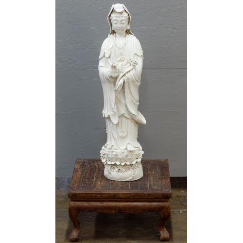 Asian Goddess Porcelain Statue