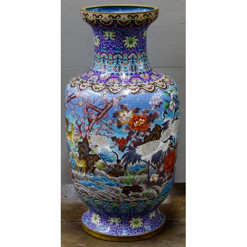 Asian Cloisonne Floor Vase