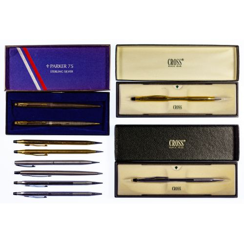 Parker Sterling Silver and Cross Pen Assortment