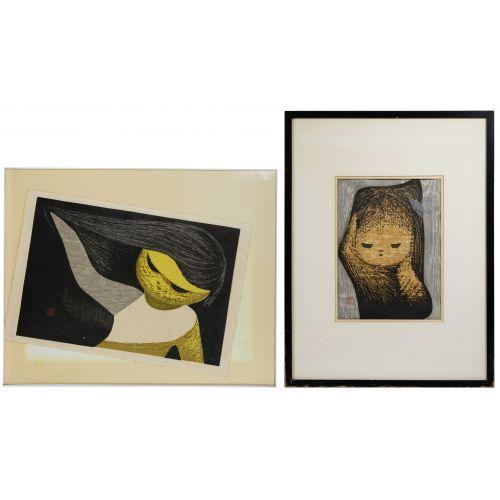 Kaoru Kawano (Japanese, 1916-1965) Woodblock Prints